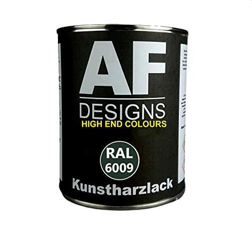Alex Flittner Designs 1 Liter Kunstharz Lack Buntlack Kunstharzlack RAL6009 TANNENGRUEN matt