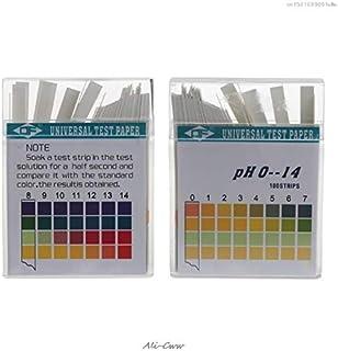 2018 100 Tiras 0-14 PH Papel indicador de ácido alcalino Agua Saliva Litmus Kit de prueba PH Papel de prueba