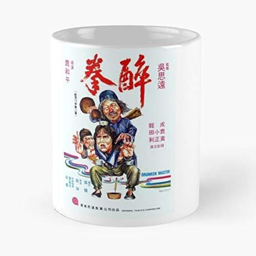 OriginalFavorites See Drunken Jackie Movie Yuen Cult Hwang Lee Films Joy Woo Chan Jang Master Kuen Ng Ping Seasonal Taza de café con Leche 11 oz