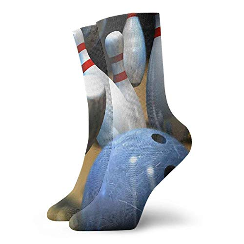 Kevin-Shop Bowling Unisex Socken Bedruckte weiche Socken Alle Jahreszeiten Crew Socken Kurze Socken