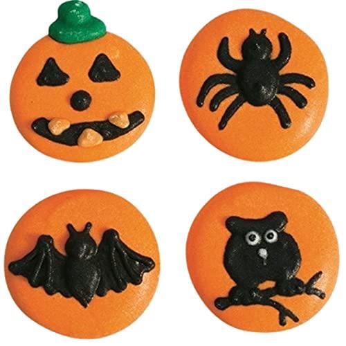Halloween Button Sugar Pipings - 12 Piece
