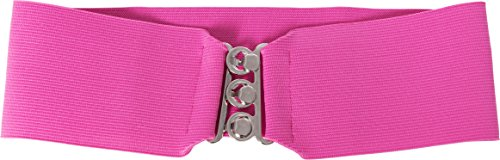 Hip Hop 50s Shop Child Elastic Cinch Belt (Small Child (20'-23'), Hot Pink)