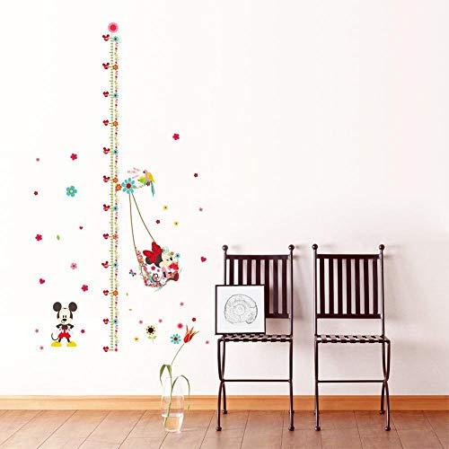 Karikatur minnie Mickymaus-Höhe messen Kinder Baby Kinderzimmer Schlafzimmer Wandaufkleber DIY dekoratives Haupt Abziehbilder Wandmalerei, Leinwand (Color : MM061)