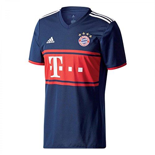 adidas FCB A JSY Camiseta 2ª Equipación Bayern Munich 2017-2018, Hombre, Azul (Maruni/rojfcb), M