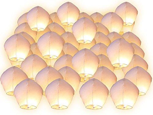 Lot de 10 Lanternes volantes blanches blanc surprise fête mariage céleste chinoise anniversaire extraordinaire+1 bracelet de gel de silice