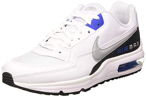 Nike Mens AIR MAX LTD 3 Running Shoe, White/LT Smoke Grey-Game ROYAL, 44.5 EU