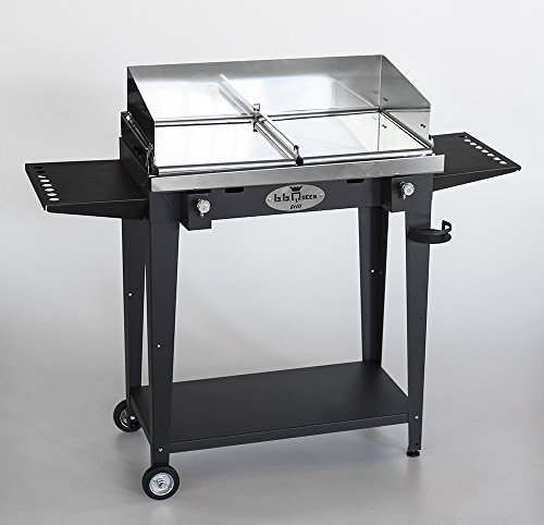 BBQueen Grill 8.4 Antracite - Barbecue a Gas (Piastre Lisce, Full Optional) - 78x45x97 cm
