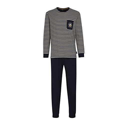 TOM TAILOR Herren Pyjama blau Bedruckt 1er Pack 54