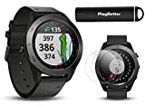 Garmin Approach S60 (Black) Golf GPS Watch Power Bundle | +HD Screen Protectors & PlayBetter Portable Charger | 41,000+ Courses, 010-01702-00
