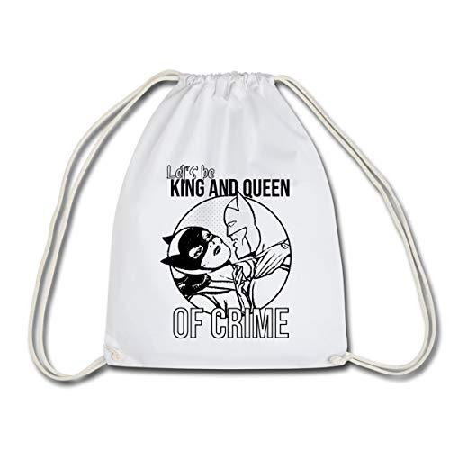 DC Comics Batman Batgirl King Queen of Crime Sac à dos cordon, blanc