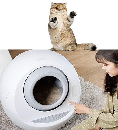XYQCPJ WiFi Toilette Lettiera per Gatti Autopulente, Cassetta Igienica Cassetta Igienica Automatica per Gatti Elettrico Smart Cat Litter Box Antispruzzo Rotazione di Pulizia Gatto Robot