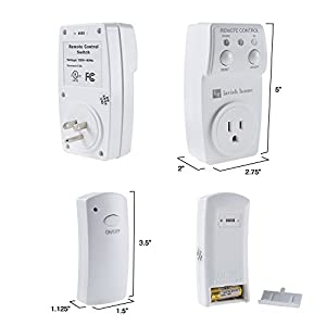 Lavish Home 75-LMP3014 Indoor Wireless Outlet Plug with Programmable Remote Control Appliances, Lamps, Lighting and Electrical Equipment, Normal