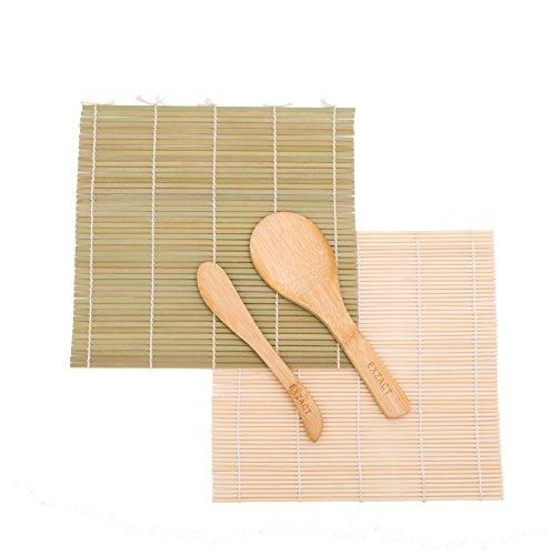 Exzact EX-SR04 Kit de bambú para enrollar Sushi – 4...