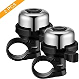 YUNDUAN 2 Pack Bike Bell, Bike Bells for Adults and Kids, Crisp Loud Melodious Sound, Bicycle Bells for Road Bike, Mountain Bike Suitable for.83Inch - 0.90Inch Handlebar