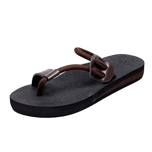 Damen Zehentrenner Damen Böhmen Sandalen modisch und lässig rutschfeste Strandschuhe und Zuhause Hausschuhe Schuhe