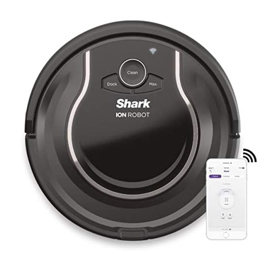Shark ION Robot Vacuum R75 with Wi-Fi and Voice Control, 0.45 Quarts, in Smoke and Ash 1 THREE BRUSH TYPES. ONE POWERFUL CLEAN: Tri-Brush System combines side brushes, channel brushes, and a multi-surface brushroll to handle debris on all surfaces. COMPLETELY INTEGRATED IN YOUR HOME: Shark ION Robot senses ledges and stairs, avoids damaging furniture and walls, and maneuvers around potential stuck situations, truly knowing your home. CLEAN FROM YOUR PHONE: SharkClean app lets you start and stop cleaning and schedule your robot to clean whenever you want.