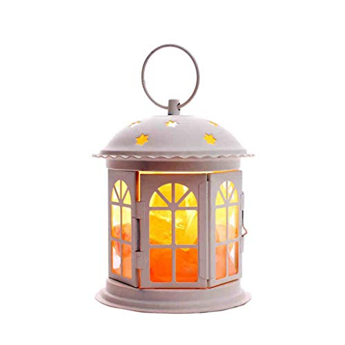 L.HPT Kristall-Salz-Lampen-Ausgangsdekorative Lichter-Hohle Titan-kreative Geschenk-Salz-Lampen (Farbe : Weiß)