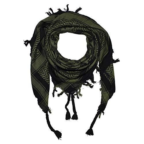 Superfreak Palituch - Totenköpfe kariert schwarz - grün-olivgrün - 100x100 cm - Pali Palästinenser Arafat Tuch - 100{385b527c3488861a12fbadf759d2c8669f069ba5e964b7756c66d06fdb89b49e} Baumwolle