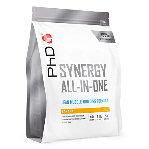 PhD Synergy All-in-One Whey Protein Powder, 2 kg, Banana