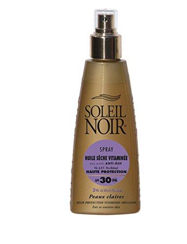 SOLEIL NOIR 63 Spray Huile Sèche Vitaminée 30 Protection Haute