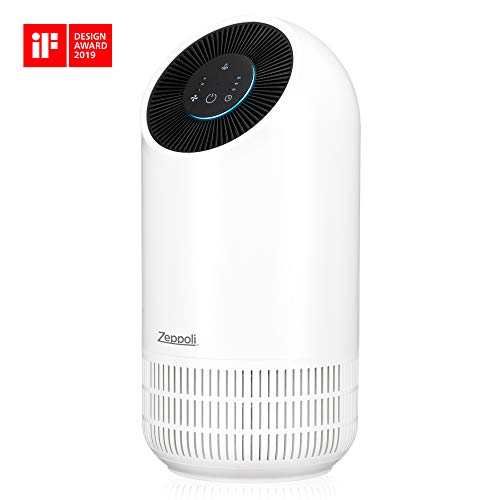 Zeppoli Air Purifier for Home | Air Freshener for Pets Hair, Odor Dander/Allergies, and Germs Purifiers with True HEPA Air Filter | Quiet in Office or Bedroom - Smoke, Dust, and Mold Remover