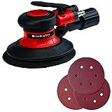 Einhell 4133330 TC-PE 150 Ponceuse excentrique pneumatique, Noir, Rouge