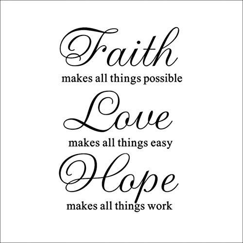Wandaufkleber Faith Love Hope Wohnzimmer Schlafzimmer Wandaufkleber können entfernt werden Wanddekoration 57 * 86Cm