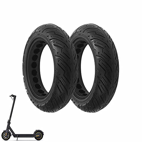 HGTRH Patinete Electrico Ruedas Macizas, Neumático Sólido 10x2,5, Antipinchazo Reemplazo Neumático Compatible...