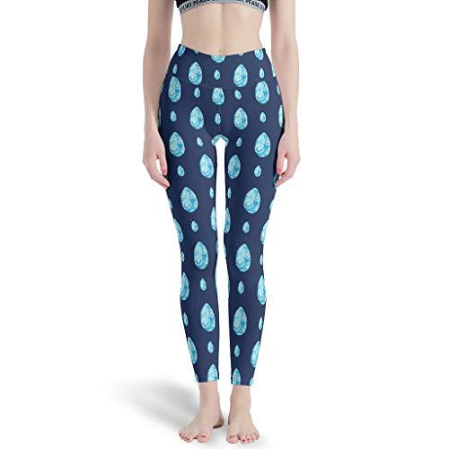 NeiBangM Weich Yoga Sporthose Damen Easter Yoga-Hose für Gym Sport White l