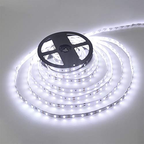 SUNXK Tira LED 5050 5630 2835 Lámpara RGB 12V 5M Cocina Flexible Cocina Lámpara Decorativa Impermeable 300 LED Cinta diodo con 60leds / M (Color : IP20, Emitting Color : White)