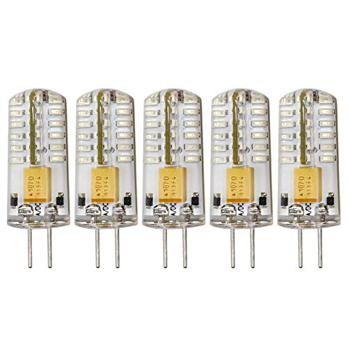 Farbe Rot G4 12V LED Glühbirne 2.5W Ersetzt 20W Halogen Spezial Glühbirne für Dekorative und Festliche Beleuchtung, 5er Pack[MEHRWEG]