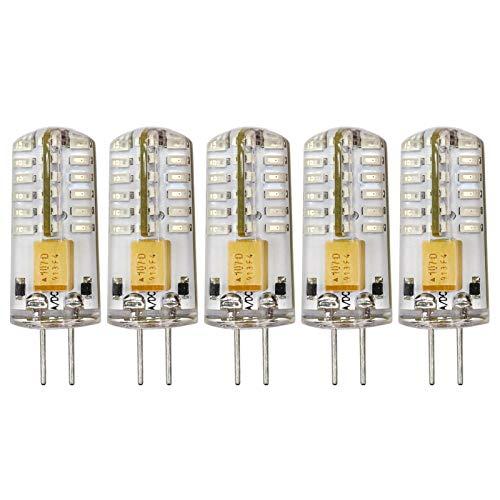 Bombilla LED G4, 12 V, 2,5 W, equivalente a bombilla halógena de 20 W, para mini bola de discoteca, iluminación decorativa y festiva, paquete de 5 unidades