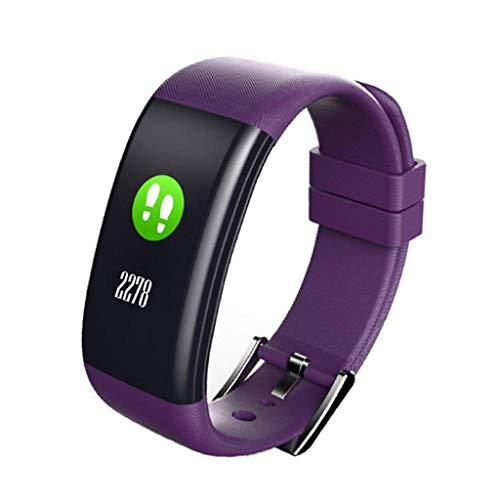Mode Farbbildschirm Smart Armband Touchscreen wasserdichte Smartwatch (Lila)