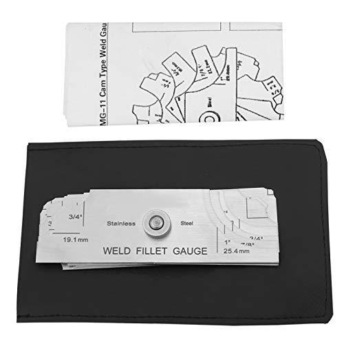 Kehlnaht-Messgerät, Edelstahl-Schweißmessgerät Messgerät-Test Ulnar-Schweißer-Inspektionsmessgerät, sowohl Zoll als auch metrisch
