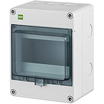 fuse box small distribution board wet room sub-distribution ip65 1 row for  6 automates outdoor use: amazon.de: baumarkt  amazon.de