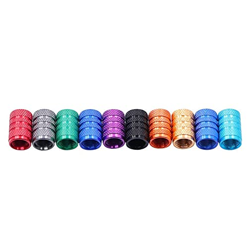 Tapa de válvula 4 PIEZAS Tallos de neumáticos de coches de plata Tallos Tapeo de molino Tapa de válvula de neumático Tapa de aluminio Tallo de rueda de neumático Tapa de válvula de aire for Schrader G