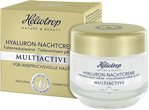 HELIOTROP Naturkosmetik MULTIACTIVE Hyaluron-Nachtcreme, Intensiver Wirkstoffkomplex, Anti-Falten Feuchtigkeitspflege, Stimuliert die Collagensynthese, 50 ml