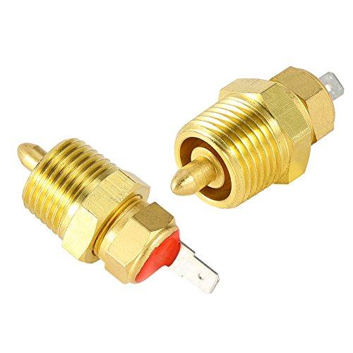 Esenlong Motor Eléctrico Dorado de 185 a 175 Grados Interruptor de Termostato de Ventilador de Enfriamiento de 3/8 Pulgadas 1 Pieza