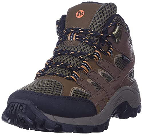 Merrell Boys M-moab 2 Mid Wtrpf Hiking Boot, Earth, 4.5 Big Kid US