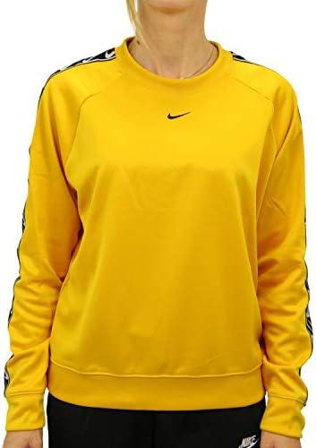 Nike Sportswear Camiseta de Cuello Redondo Color Amarillo para Mujer
