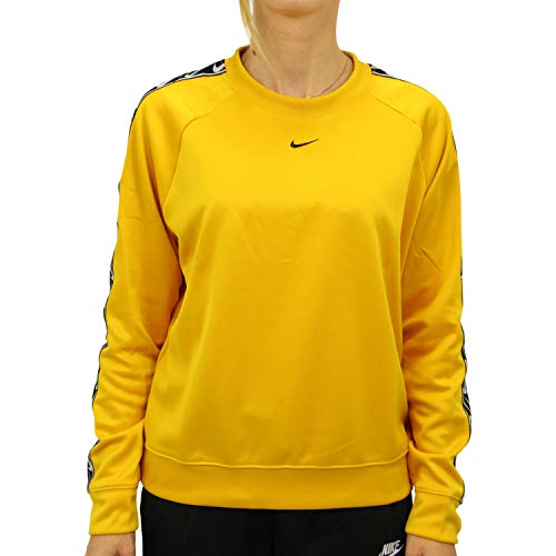 Nike Sportswear - Camiseta de cuello redondo para mujer, color amarillo