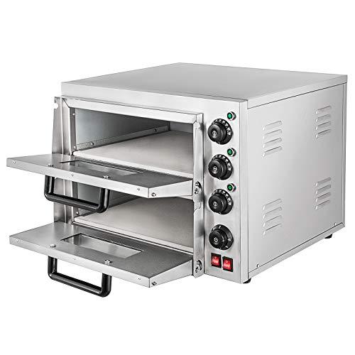 Summile WY1-2 pizza oven electric 3KW 220V professional Pizzaofen 350℃ pizza maker oven ofen 55 x 52x 43cm Zwei Regale Pizza Drawer (WY1-2)