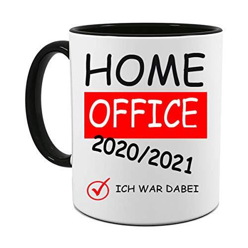 HOME OFFICE TASSE |HOMEOFFICE 2020 / 2021 FOTOTASSE | BÜRO TASSE | MOTIV TASSE | BEDRUCKTE TASSE | KAFFEETASSE | TEETASSE | KLOPAPIER KRISE | LUSTIG | GESCHENK | KERAMIK | FUCK THE VIRUS(Schwarz)