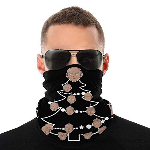 One Punch Man Saitma Bolas de árbol de Navidad Diversidad Pañuelo para la cara Magic Headwear Neck Gaiter Bandana bufanda