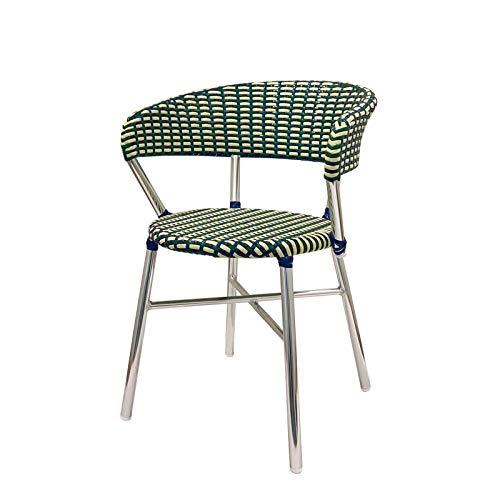 ダルトン Aluminum roundish chair F19-0001 Green/Blue ガーデンチェア