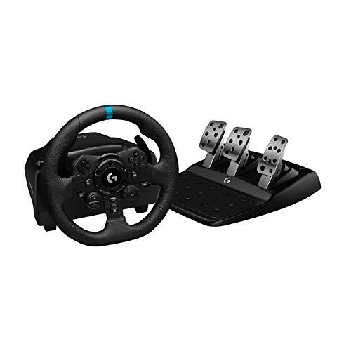 Volante Logitech G923 para PS5, PS4 e PC com Force Feedback TRUEFORCE, Pedais Responsivos, Launch Control e Acabamento em Couro