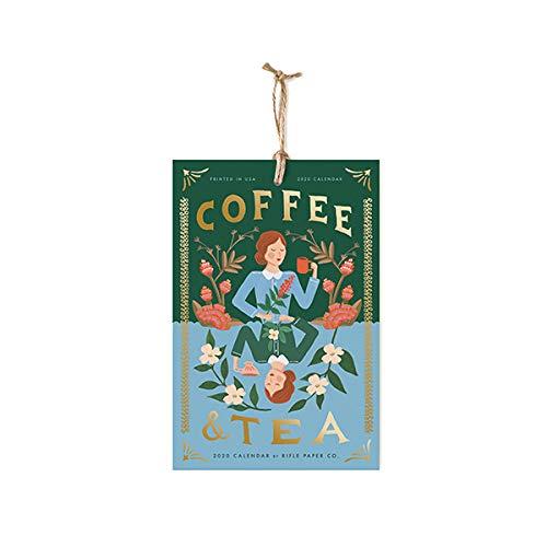 Calendario de pared de papel para rifle 2020 café y té