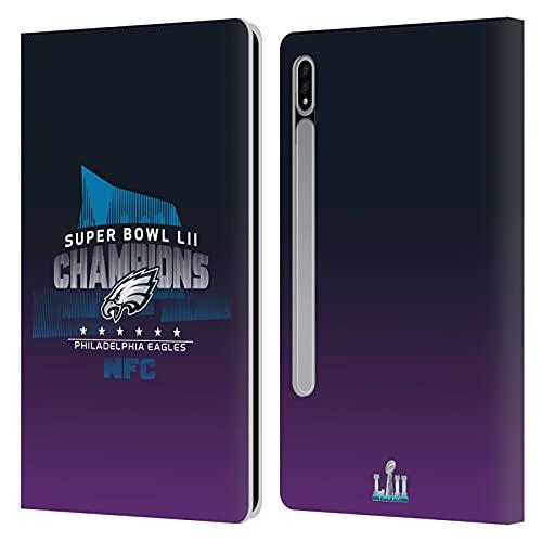 Head Case Designs Licenciado Oficialmente NFL Philadelphia Eagles 4 2018 Super Bowl LII Champions Carcasa de Cuero Tipo Libro Compatible con Samsung Galaxy Tab S7 5G