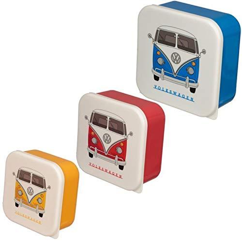 Puckator 3er Set Lunchboxen Volkswagen VW T1 Camper Bus M/L/XL, multi, LBOX47