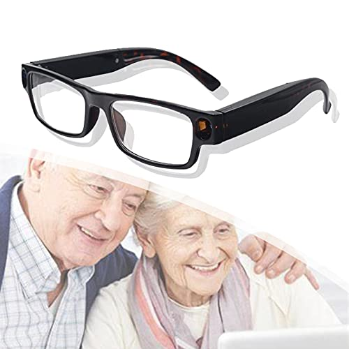 ZhiLianZhao Reading Glasses, Gafas Lectura con Carga USB, No Es Fácil Romper, Fácil Transportar para Trabajos Eléctricos O Plomería en Rincones Oscuros,Marrón,3.5